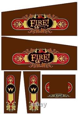 FIRE FIRE! Pinball Machine Cabinet Decals NEXT GEN LICENSED