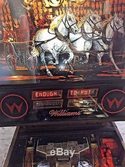 Fire Pinball Machine Williams Nice / LED UPGRADED and NEW RED DISPLAYS