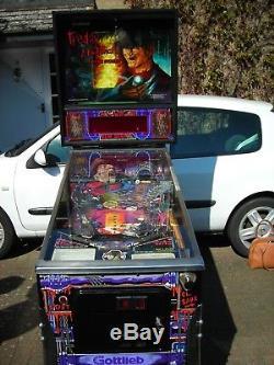 Freddy Krueger Pinball Machine. Gottlieb. Perfect Working Order
