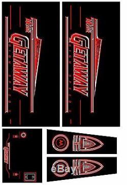 GETAWAY HIGH SPEED II Pinball Machine Cabinet Decals Limited QTY NEXT GEN