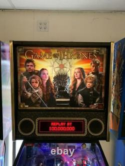 Game of Thrones Pro Used Pinball Machine Stern. Plays Great. Led bulbs installed