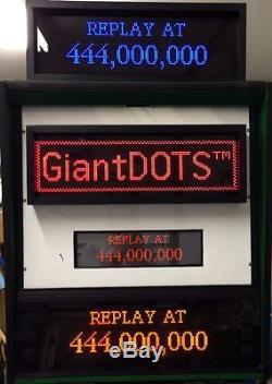 GiantDOTS LED Dot Matrix Display Kit for Pinball Machines, 128x32 DMD, RED
