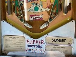 Gottlieb 1962 Sunset pinball machine