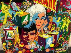 Gottlieb 4 Square Pinball Machine Game Backglass