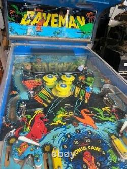 Gottlieb Caveman Rare pinball machine with integrated video game. Williams