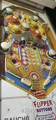 Gottlieb Gaucho 4 Player Pinball FREE DELIVERY ON THIS PINBALL