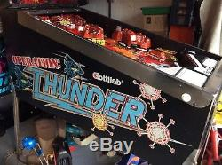 Gottlieb Operation Thunder Ot Pinball Machine