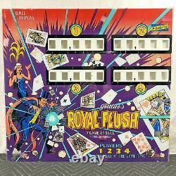 Gottlieb Royal Flush Pinball Machine Game Backglass