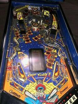 Gottlieb Street Fighter Championship Pinball Machine 1992 Stunning Pin