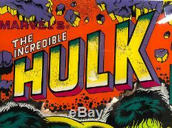Gottlieb The Incredible Hulk Pinball Machine Game Backglass
