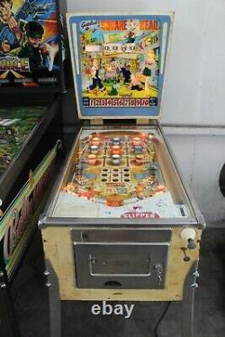 Gottlieb Wedge Head Square Head pinball machine plays great