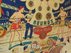 Gottlieb World Champ 1957 Pinball Machine Playfield Boxing Americana Pop Art