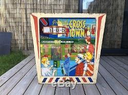 Gottlieb cross town pinball machine 1966 vintage