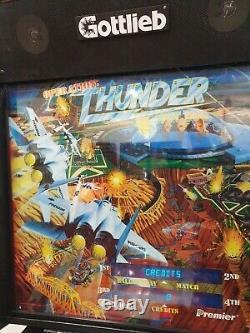 Gottlieb operation thunderpinball machine 1992