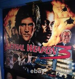 Lethal Weapon 3 pinball machine. Dry stored 20 years! Only 8 years of wear