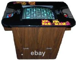 MS PAC-MAN ARCADE MACHINE COCKTAIL TABLE by MIDWAY 1981 (Excellent) RARE