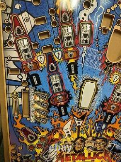 Metallica pinball machine NOS playfield PROTOTYPE Stern SUPER RARE New Old Stock