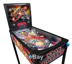 Mightymast Star Galaxy Professional Pinball Machine Black