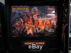 Monster Bash Pinball Arcade machine. Nice. Free Shipping. Led Kit Installed