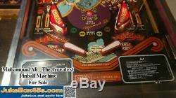 Muhammad Ali Pinball Machine / Memorabilia Beautiful with Warranty