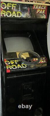 OFF ROAD ARCADE MACHINE by LELAND 1989 IVAN STEWART (w. TRAK PACK) RARE
