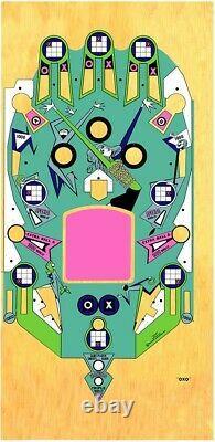 OXO Pinball Machine Playfield Overlay
