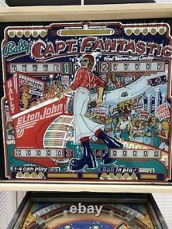 Original 1976 Bally Captain Fantastic Pinball Machine