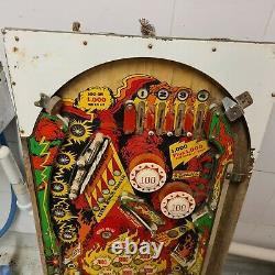 Original Pinball Machine Gottlieb Fire Queen 1977 Playfield