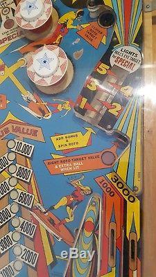 Original Vintage 1977 Jet Spin Gottlieb Pinball Machine Collectible Arcade Game