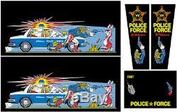 POLICE FORCE Pinball Machine Cabinet Decals NEXT GEN LICENSED