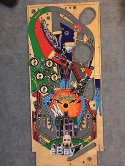 Pinball Addams Family Playfield NEW GOLD REPRODUCTION