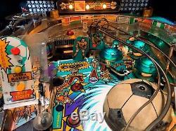 Pinball BALLY World Cup Soccer 1994 Flipper 100% Work. Express Ship. Video Origi