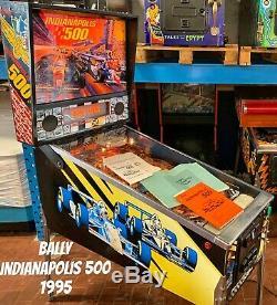 Pinball Bally Indianapolis 500 1995 Flipper All Original Manual Full Working