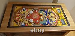 Pinball Machine Coffee Table Gottlieb World fair 1970 PlayField Solid Oak bally