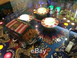 Pinball Machine Coffee Table Oak Table Zaccaria'LocoMotion' 1981 PlayField