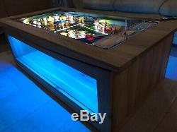 Pinball Machine Coffee Table Oak Table -Zaccaria SuperSonic Concorde playfield