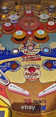 Pinball Machine Coffee Table Solid Oak Gottlieb World fair 1970 PlayField bally