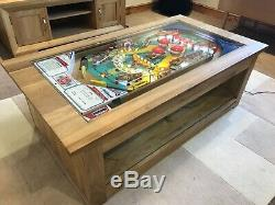 Pinball Machine Coffee Table Solid Oak Table 1976 Williams Aztec PlayField