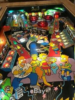 Pinball Machine Coffee Table Solid Oak Table The Simpsons 1990 PlayField
