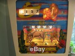 Pinball Machine Gottleib Buckaroo Wedge Head 1965 Good working order