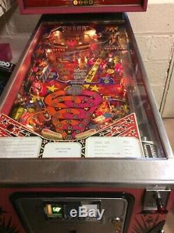 Pinball Machine. Zaccaria Pinball Champ 82. For Up To Four Players