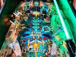 Pinball Williams Star Wars Episode I 1999 Flipper LCD Conv + Light Saber Update