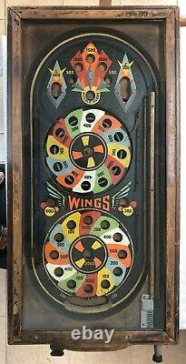 RARE coin-op 1933 PINBALL game Rock-Ola'Wings' made in Chicago USA, for restora