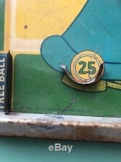 Rare 1935 Popeye Bagatelle Pinball Machine Vintage