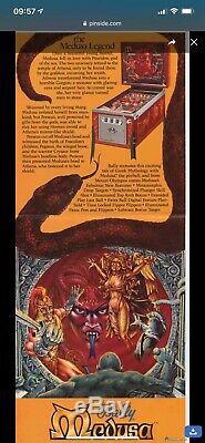 Rare Bally 1981 Medusa Pinball Machine original