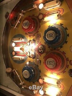 Rare Vintage 1964 Gottlieb Bowling Queen Pinball Machine Mancave
