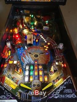 Refurbished Addams family pinball machine with new LEDs, Rubbers and Legs MODS