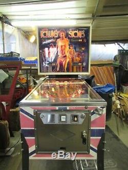 Rolling Stone Pinball Machine Bally 1980 Rare Blue Tongue Refurbished