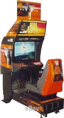 SEGA STRIKE FIGHTER ARCADE MACHINE (Excellent Condition) RARE withLCD UPGRADE