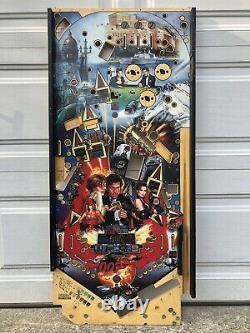Sega Goldeneye James Bond 007 Pinball Machine Game Playfield Board RARE